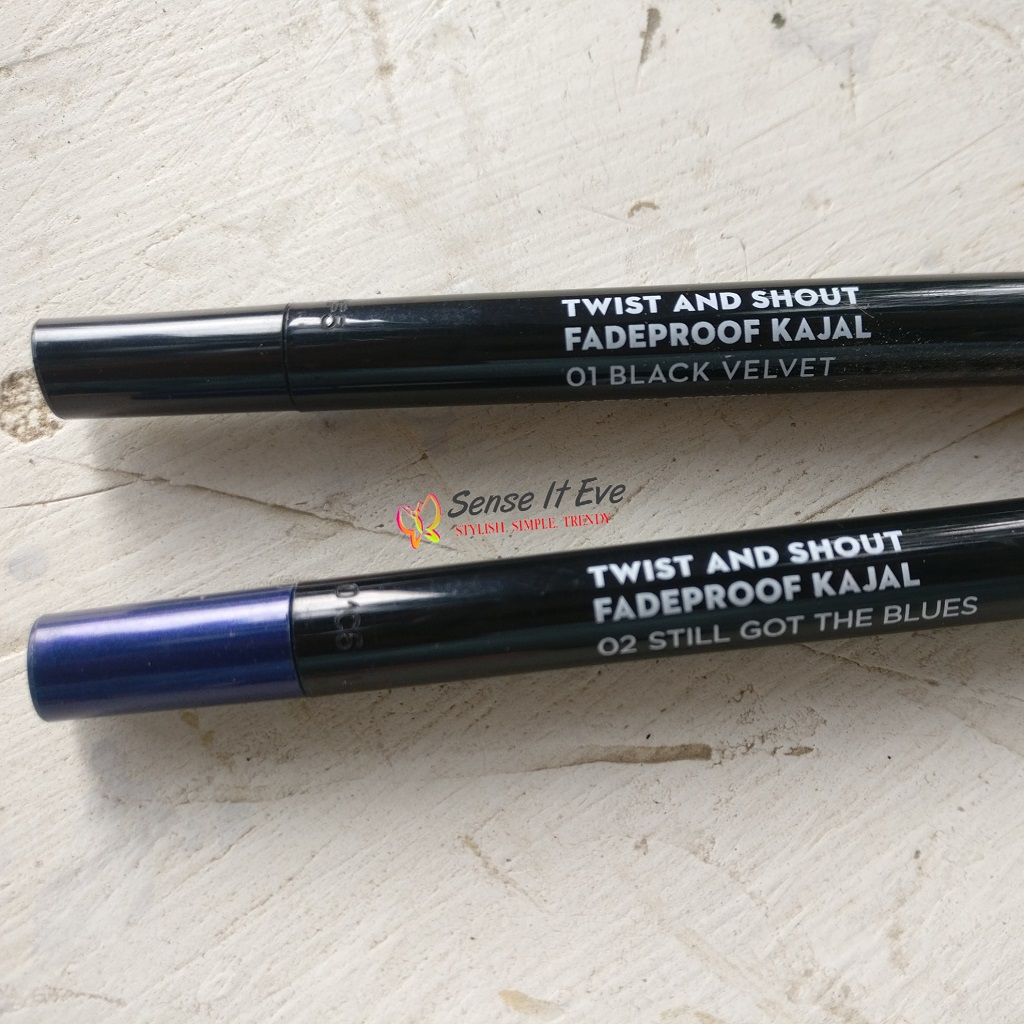 Sugar Twist and Shout FadeProof Kajal Review & Swatches