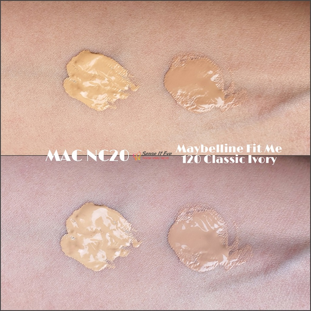 Maybelline Fit Me Matte Poreless Foundation 120 Classic Ivory Vs Mac Studio Fix Nc20